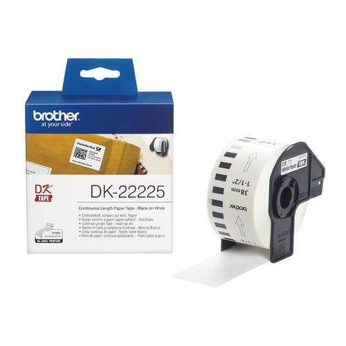 Brother DK-22225 38mmx30.48m Continuous Paper Labelling Tape Ref DK22225 *3to5 Day Leadtime*