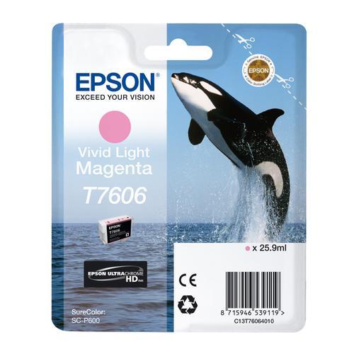 Epson T7606 25.9ml Vivid LightMag Cart for SureColorSC-P600 Ref C13T76064010 *3 to 5 Day Leadtime*