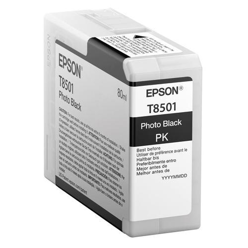 Epson T8501 Inkjet Cartridge 80ml Photo Black Ref C13T850100 *3to5 Day Leadtime*