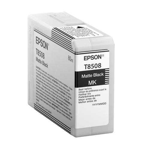 Epson T8508 Inkjet Cartridge 80ml Matte Black Ref C13T850800 *3to5 Day Leadtime*