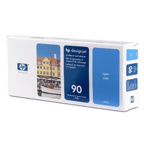 Hewlett Packard [HP} No.90 Printhead & Printhead Cleaner Cyan Ref C5055A *3to5 Day Leadtime*
