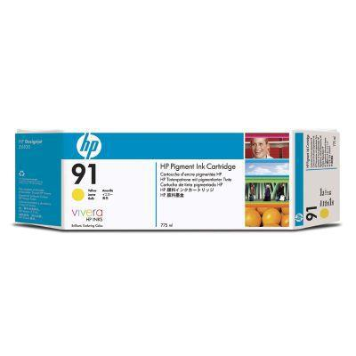 Hewlett Packard [HP] No.91 Inkjet Cart 775 ml Yellow Ref C9485A [Pack 3] *3to5 Day Leadtime*