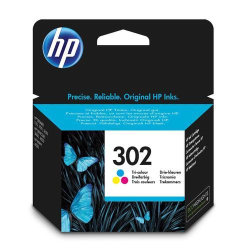 Hewlett Packard [HP] No.302 Ink Cartridge Page Life 165pp 4ml Tri-Colour Ref F6U65AE
