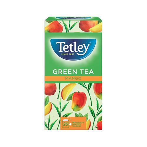 Tetley Individually Enveloped Tea Bags Green Tea & Mango Ref 1578a [Pack 25]