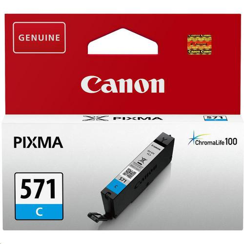 Canon CLI-571 InkJet Cartridge Page Life 173pp 7ml Cyan Ref 0386C001