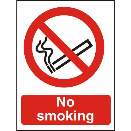 Prestige Acrylc Sign 2mmdoublesided backing 150x200 No Smoking Ref ACP089150x200 *Up to 10 Day Leadtime*
