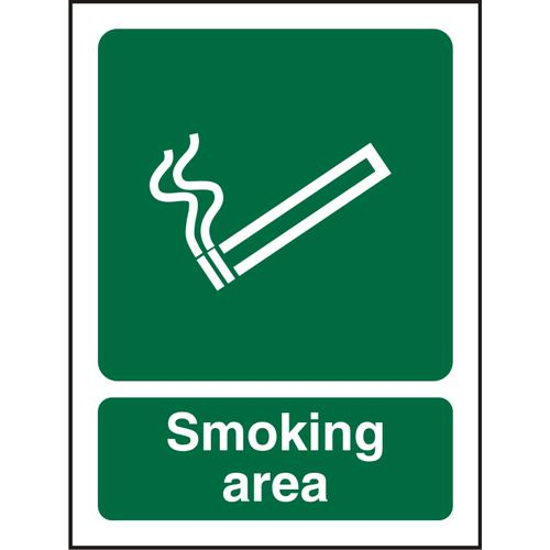 Prestige Acrylic Sign 2mm 150x200 Smoking Area Ref ACSP050150x200 *Up to 10 Day Leadtime*