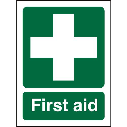 Prestige Acrylc Sign 2mmdoublesided backing 150x200 First Aid Ref ACSP310150x200 *Up to 10 Day Leadtime*