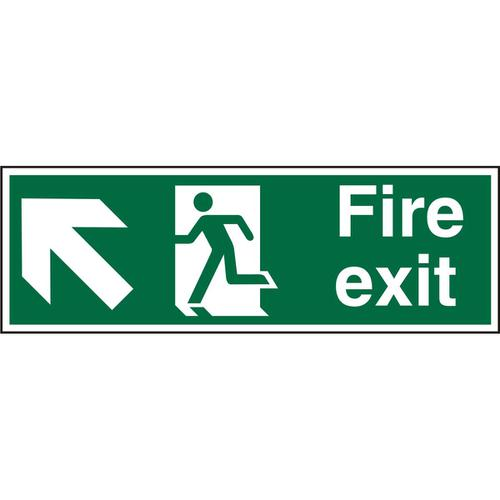 PrestigeSign 2mm DS 300x100 FireExit Man Running Left&Arrow Ref ACSP317300x100 *Up to 10 Day Leadtime*