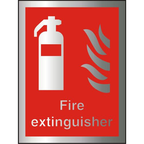 Brushed Alu Comp Sign 150x200 1.5mm Alu S/A Fire Extinguisher Ref BAFF071150x200 *Up to 10 Day Leadtime*