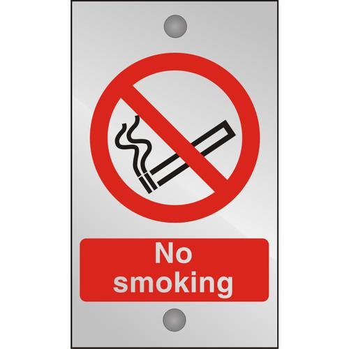 Clear Acrylic Sign 120x200 5mm Acrylic No Smoking Ref CACP089120x200 *Up to 10 Day Leadtime*