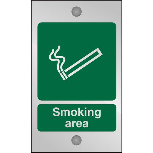 Clear Acrylic Sign 120x200 5mm Acrylic Smoking Area Ref CACSP050120x200 *Up to 10 Day Leadtime*