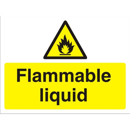 Construction Board 600x450 3mm foam PVC Flammable Liquid Ref CON026FB600x450 *Up to 10 Day Leadtime*