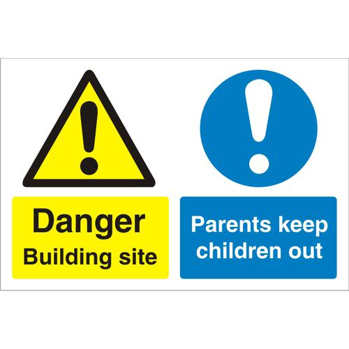 Construction Board 600x450 4mm Building Site Keep Children Out Ref CON049Cx600x450 *Upto 10 Day Leadtime*