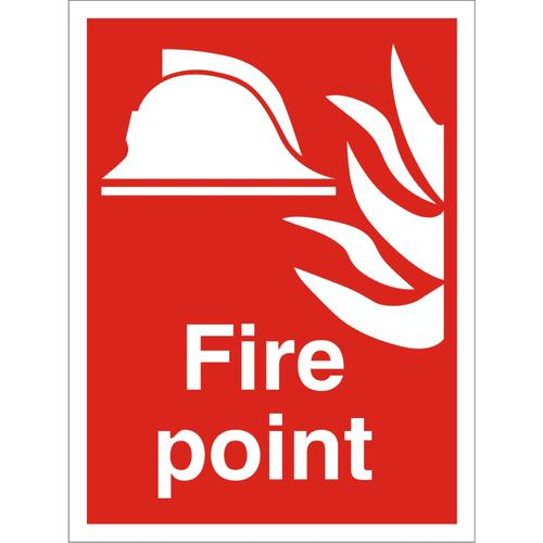 Construction Safety Board 400x600 4mm Fluted board Fire Point Ref CON053Cx400x600 *Up to 10 Day Leadtime*