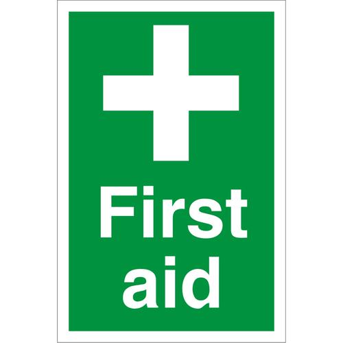 Construction Site Safety Board 400x600 3mm foam PVC First Aid Ref CON056FB400x600 *Up to 10 Day Leadtime*