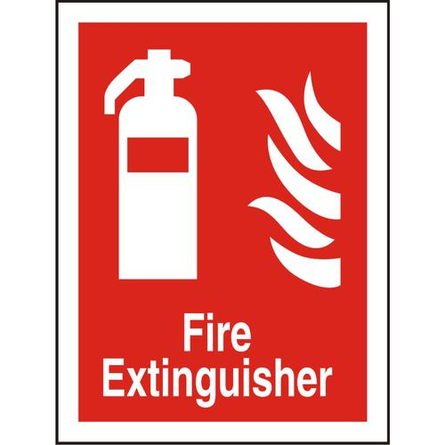 Photolum Fire Sign 200x300 1mm Plastic Fire extinguisher Ref FF071PLRP200x300 *Up to 10 Day Leadtime*