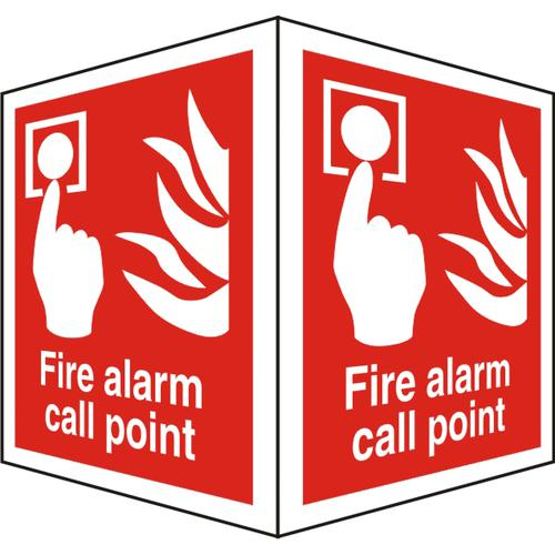 ProtrudingSign 2 faces 150x200 each Fire Alarm Call Point Ref FF129SRP150x200 *Up to 10 Day Leadtime*