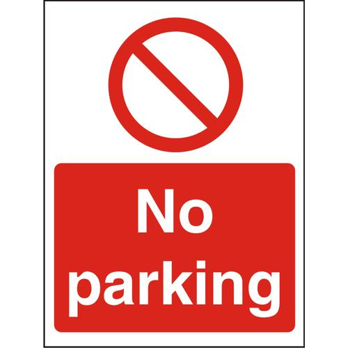 Prohibition Sign 300x400 1mm Semi Rigid Plastic No parking Ref P126SRP-300x400 *Up to 10 Day Leadtime*