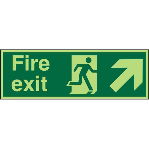 Photolum Sign 2mm 300x100 FireExit Man Runn Right&Arrow trhc Ref PACSP316300x100 *Up to 10 Day Leadtime*