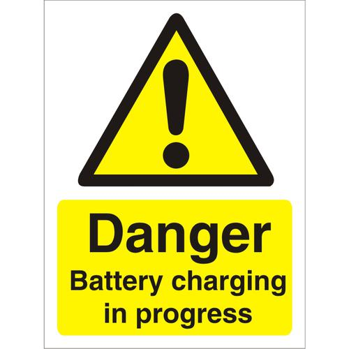 Warning Sign 300x400 1mm Plastic Danger - Battery charging Ref W0192SRP-300x400 *Up to 10 Day Leadtime*