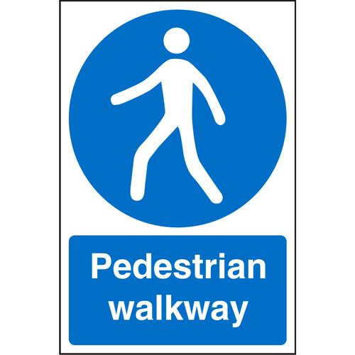 Warehouse Sign 400x600 1mm Plastic Pedestrian walkway Ref WPM07SRP-400x600 *Up to 10 Day Leadtime*