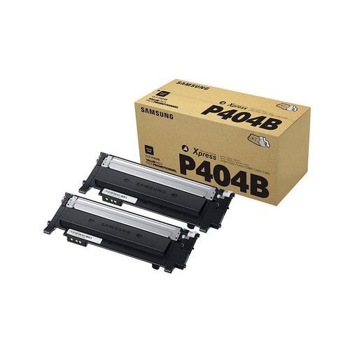 Samsung CLT-P404B Laser Toner Cartridge Page Life 1500pp Black Ref SU364A [Pack 2]