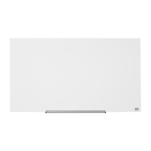 Nobo Widescreen 45 inch WhiteBrd Glass Magnetic Scratch-Resistant Fixings Inc W100xH560mm Wht Ref 1905176