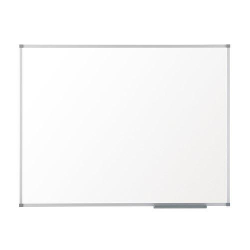 Nobo Basic Steel Whiteboard Magnetic Fixings Included W2400xH1200mm White Ref 1905214