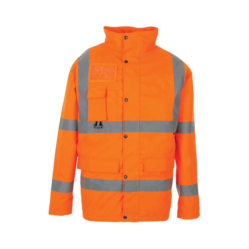 High Visibility Breathable Jacket Multifunctional Extra Large Orange Ref JJORXL *Approx 2/3 Day Leadtime*