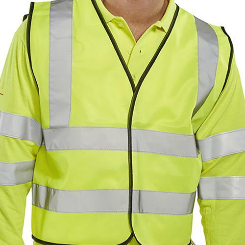 5 Star Facilities High Visibility Waistcoat Full App Small Yellow/Black Piping