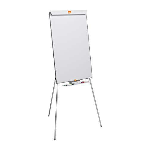 Nobo Cls Melamine Tripod Easel Height-adjust Non-mag Brd Sz 690x1000mm W690xH1900mm White Ref 1905241