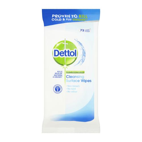 Dettol Antibacterial Surface Cleaning Wipes Ref RB789643 [72 Wipes]