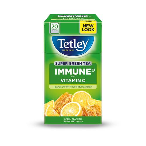 Tetley Super Green Tea IMMUNE Lemon Honey with Vitamin C Ref 4619A [Pack 20]