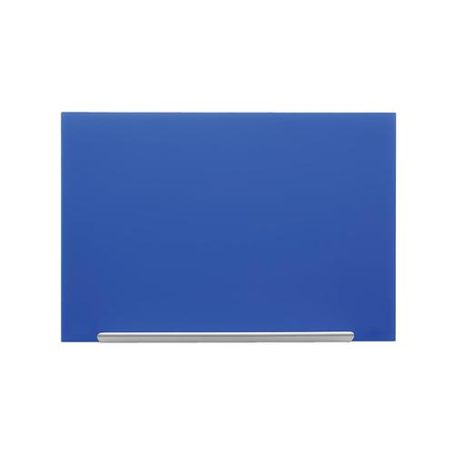Nobo Diamond Glass Board Magnetic Scratch Resistant Fixings Included W1900xH1000mm Blue Ref 1905190
