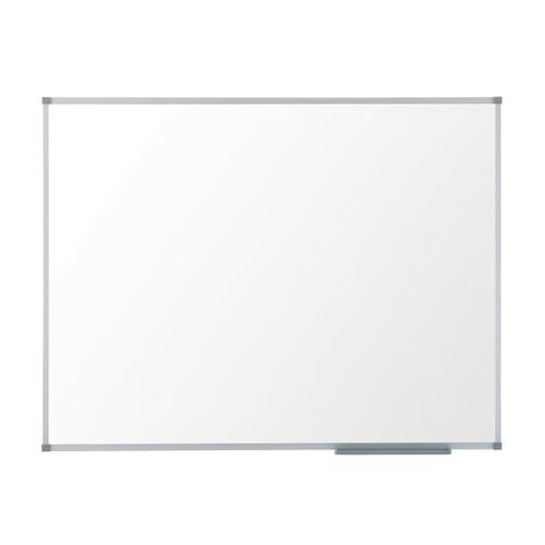 Nobo Classic Whiteboard Melamine Surface Non-magnetic Aluminium Trim W1800xH1200mm White Ref 1905205