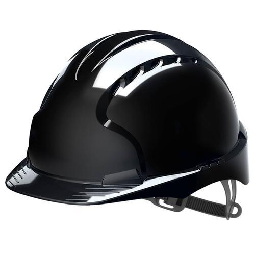 JSP EVO2 Safety Helmet HDPE 6-point Polyethylene Harness EN397 Standard Black Ref AJF030-001-1G1