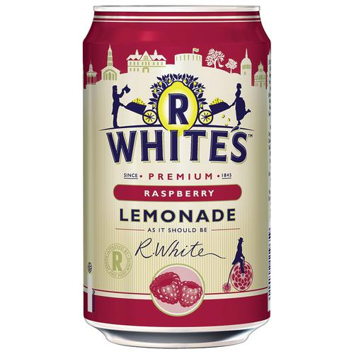 R-Whites Raspberry Drink Can Lemonade 330ml Ref 201302 [Pack 24]