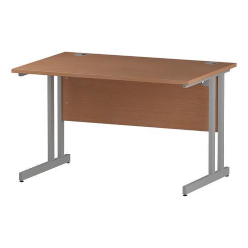 Trexus Rectangular Desk Silver Cantilever Leg 1200x800mm Beech Ref I000283