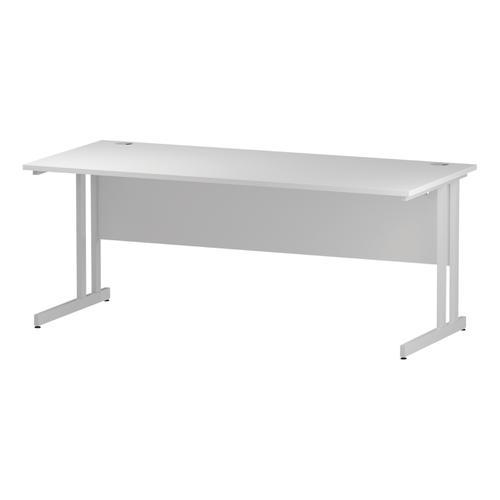 Trexus Rectangular Desk White Cantilever Leg 1800x800mm White Ref I002194