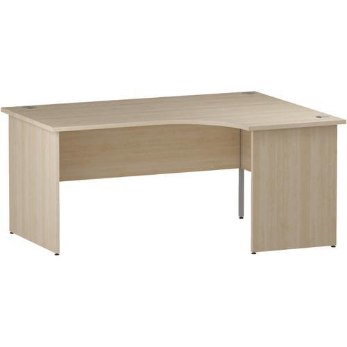 Trexus Radial Desk Right Hand Panel End Leg 1600/1200mm Maple Ref I000454