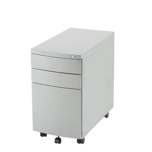 Trexus Slim line Steel 3 Drawer Pedestal 310x565x558mm White Ref I000907