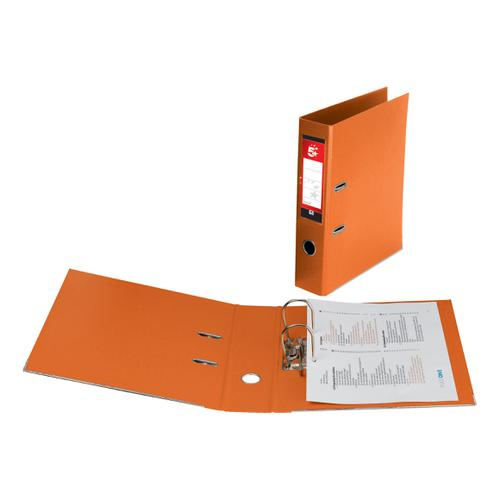 5 Star Office Lever Arch File Polypropylene Capacity 70mm A4 Orange [Pack 10] by The OT Group, 138911