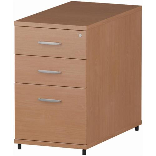 Trexus Desk High 3 Drawer 800D Pedestal 425x800x730mm Beech Ref I000071