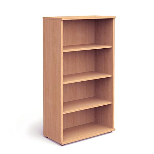 Trexus Office High Bookcase 800x400x1600mm 3 Shelves Beech Ref I000051