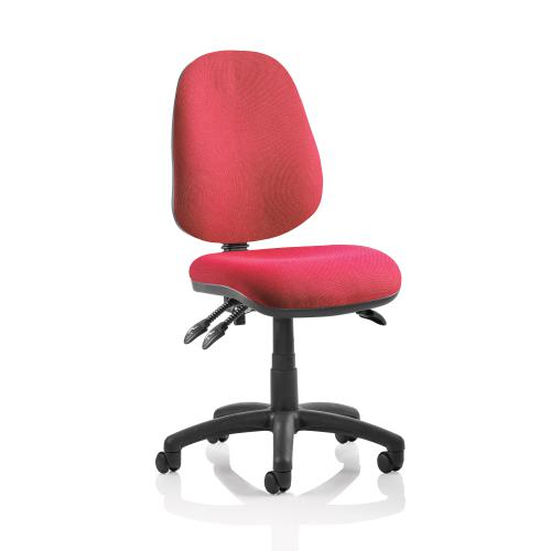 TrexusP 3 Lever High Back Asynchronous Chair Red 500x450x450-570mm Ref OP000084