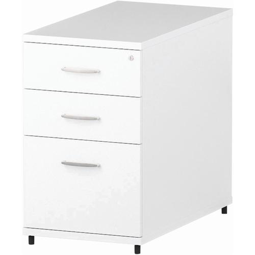 Trexus Desk High 3 Drawer 800D Pedestal 425x800x730mm White Ref I000191