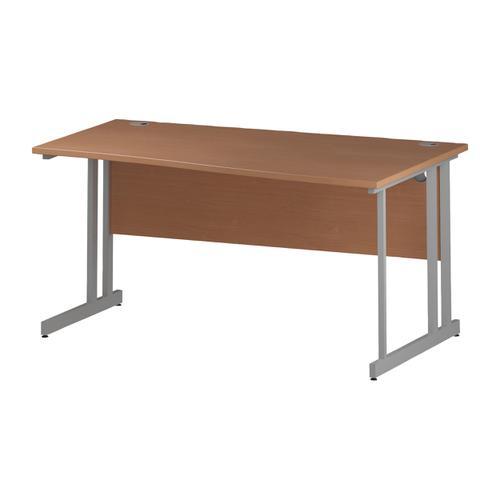 Trexus Wave Desk Right Hand Silver Cantilever Leg 1600mm Beech Ref I000290