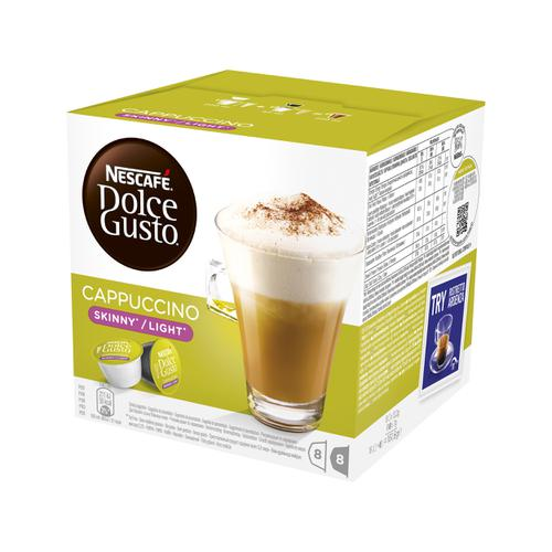 Nescafe Skinny Cappuccino Capsules for Dolce Gusto Machine 12051233 Pack 48 (3x16 Capsules=24 Drinks)
