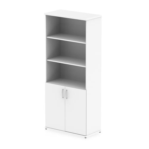 Trexus Cupboard Open Shelves 2000x800x400mm White Ref I000167